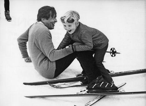 dutch princes on ski slope