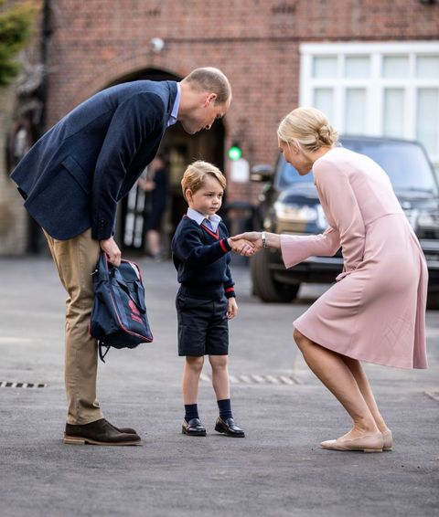 Prince George, school, first day