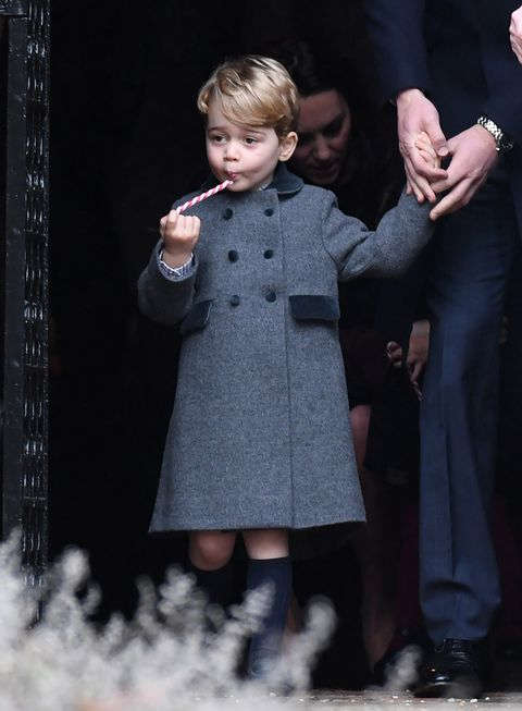 Prince George at Christmas service in 2016