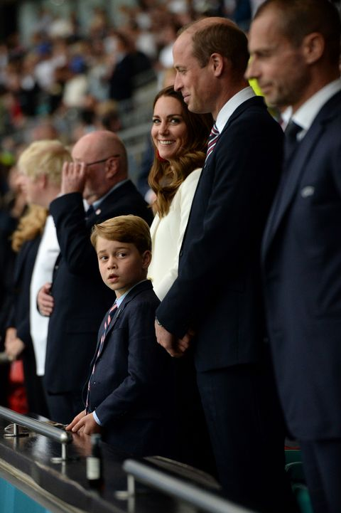 prince george with his parents at the euro 2020 final