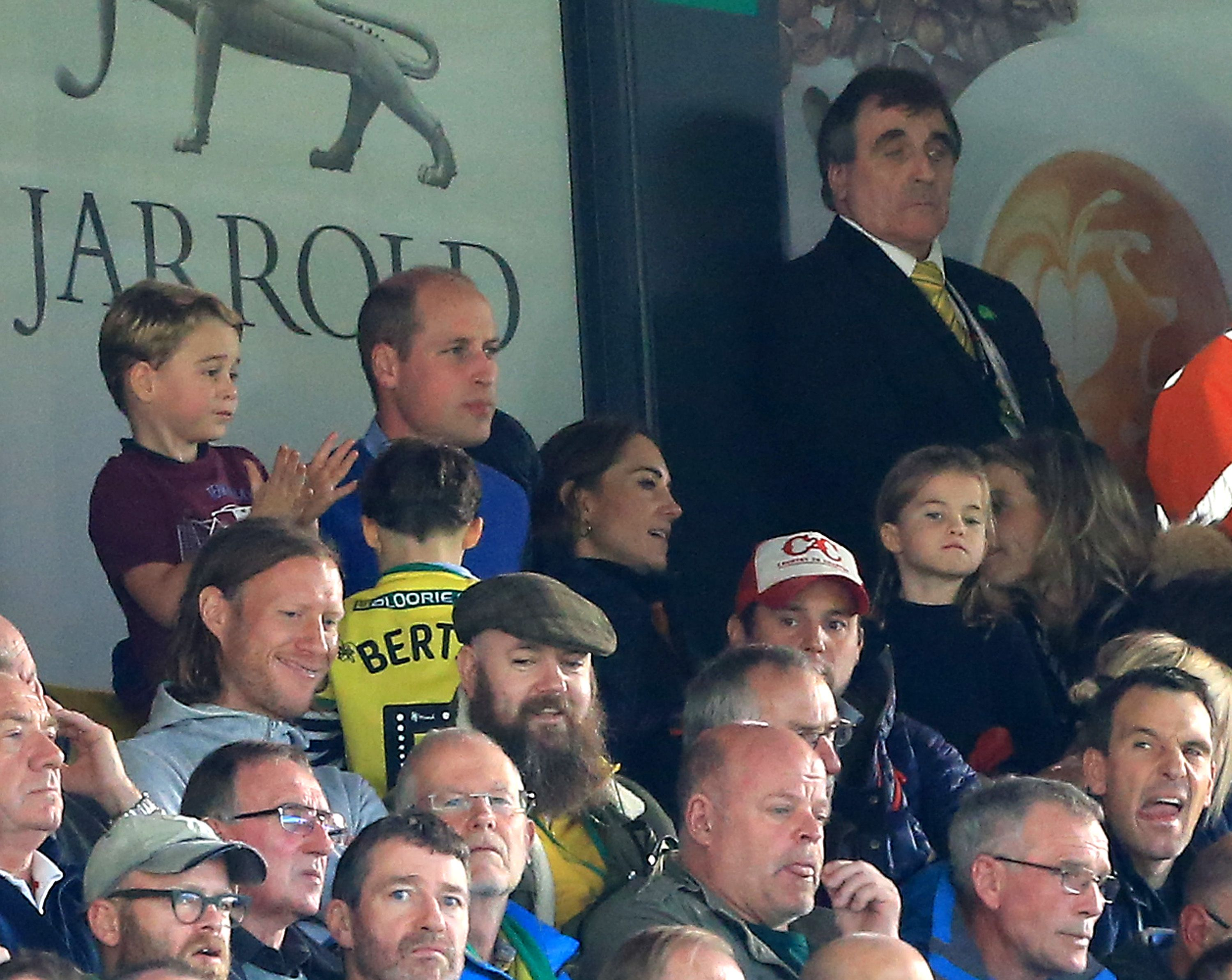 Prince George's excited cheering at Aston Villa football game goes viral