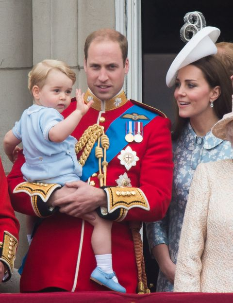 prince george prince william kate middleton trooping the colour buckingham palace balcony