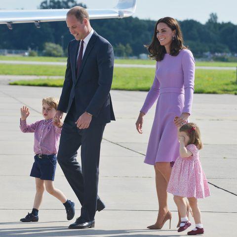 Kate Middleton, Prince William, Prince George, and Princess Charlottea