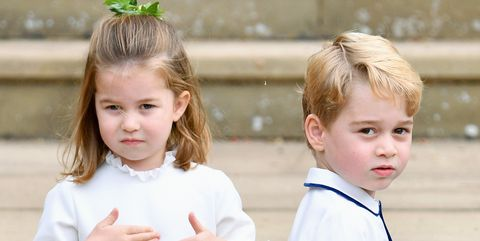 Prince George and Princess Charlotte at Princess Eugenie and Jack Brooksbank's wedding