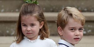 Prince George and Princess Charlotte in Sainsbury's