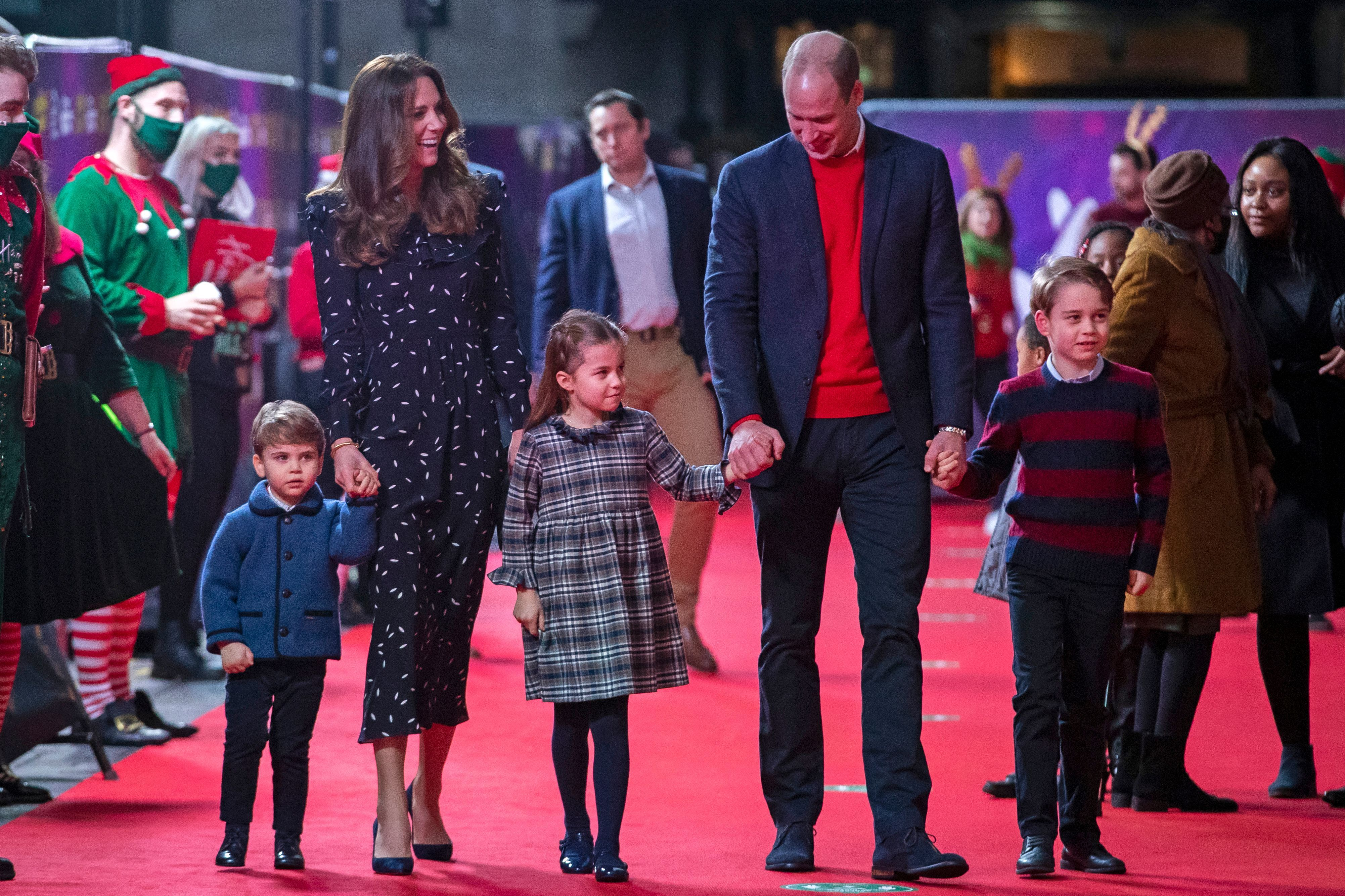 Prince George and Princess Charlotte made a surprise public appearance with Prince William on Father's Day