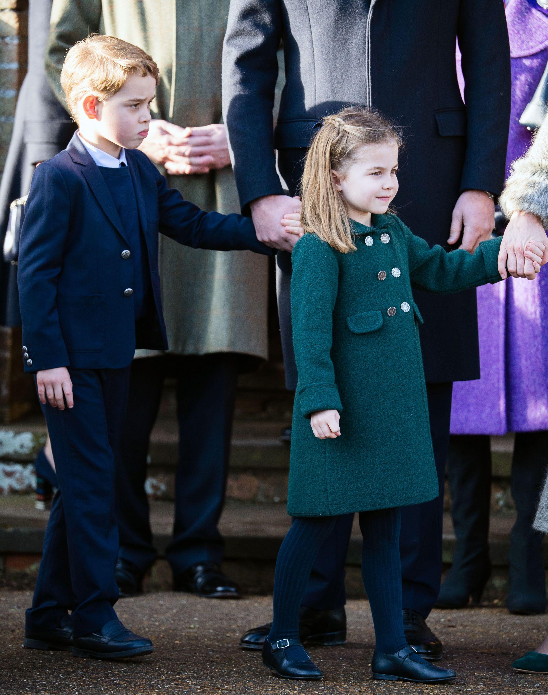 Prince William Had Prince George & Princess Charlotte Practice Their Sandringham Christmas Walk
