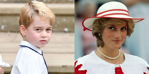 Pangeran George dan Putri Diana ternyata memiliki kemiripan lho Teens (dok. Elle)
