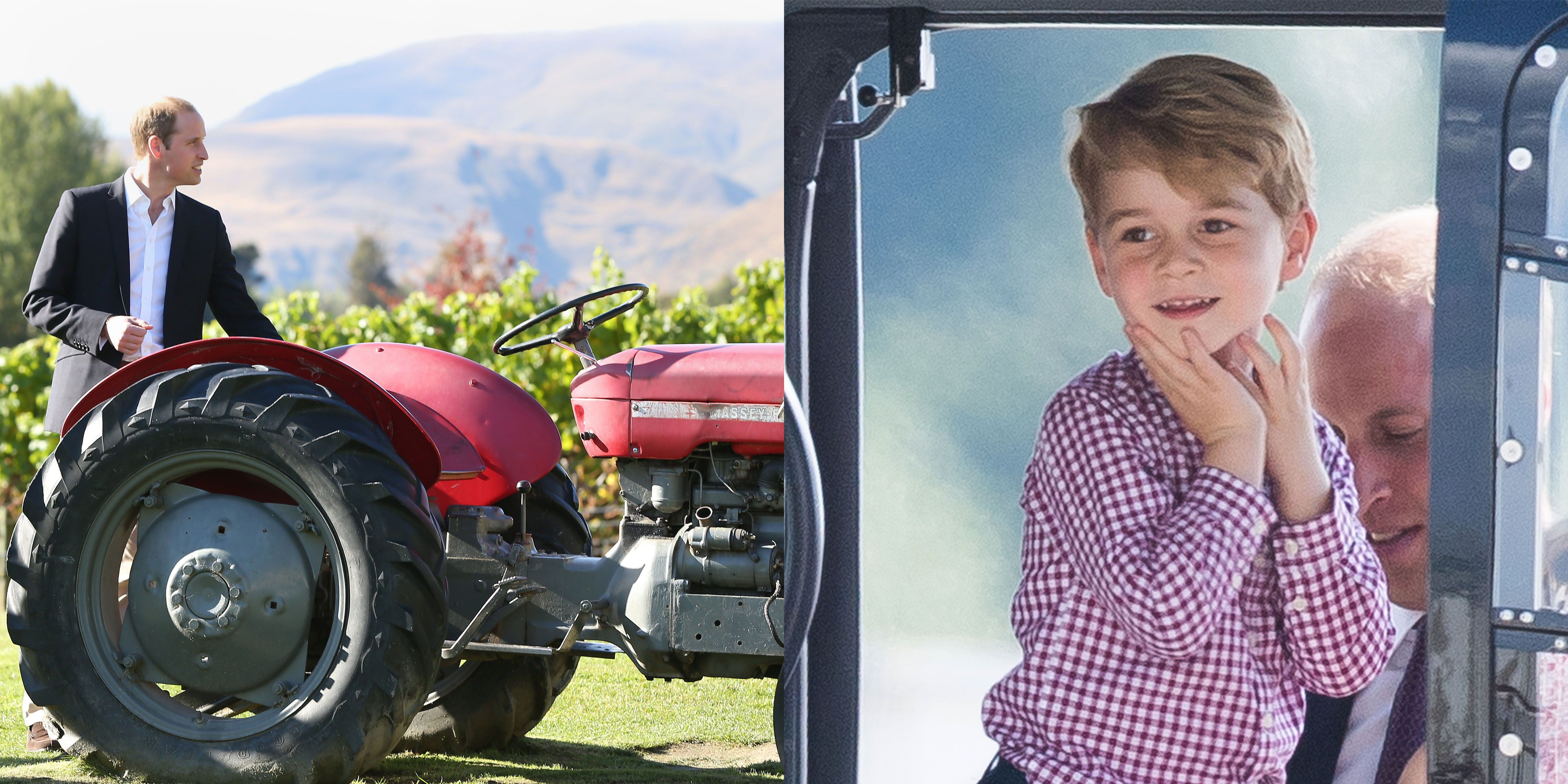 """Prince George Is """"Obsessed"""" with Tractors According to His Dad"""