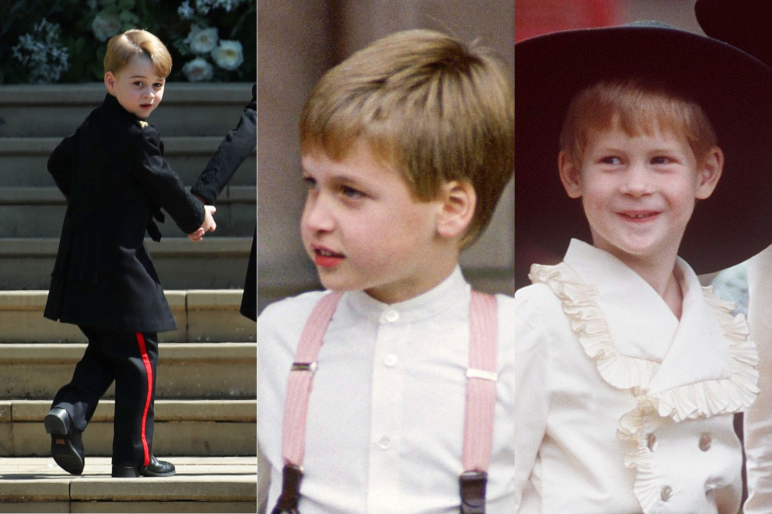Prince George Looks Exactly Like A Young WilliamHarry At Royal Wedding