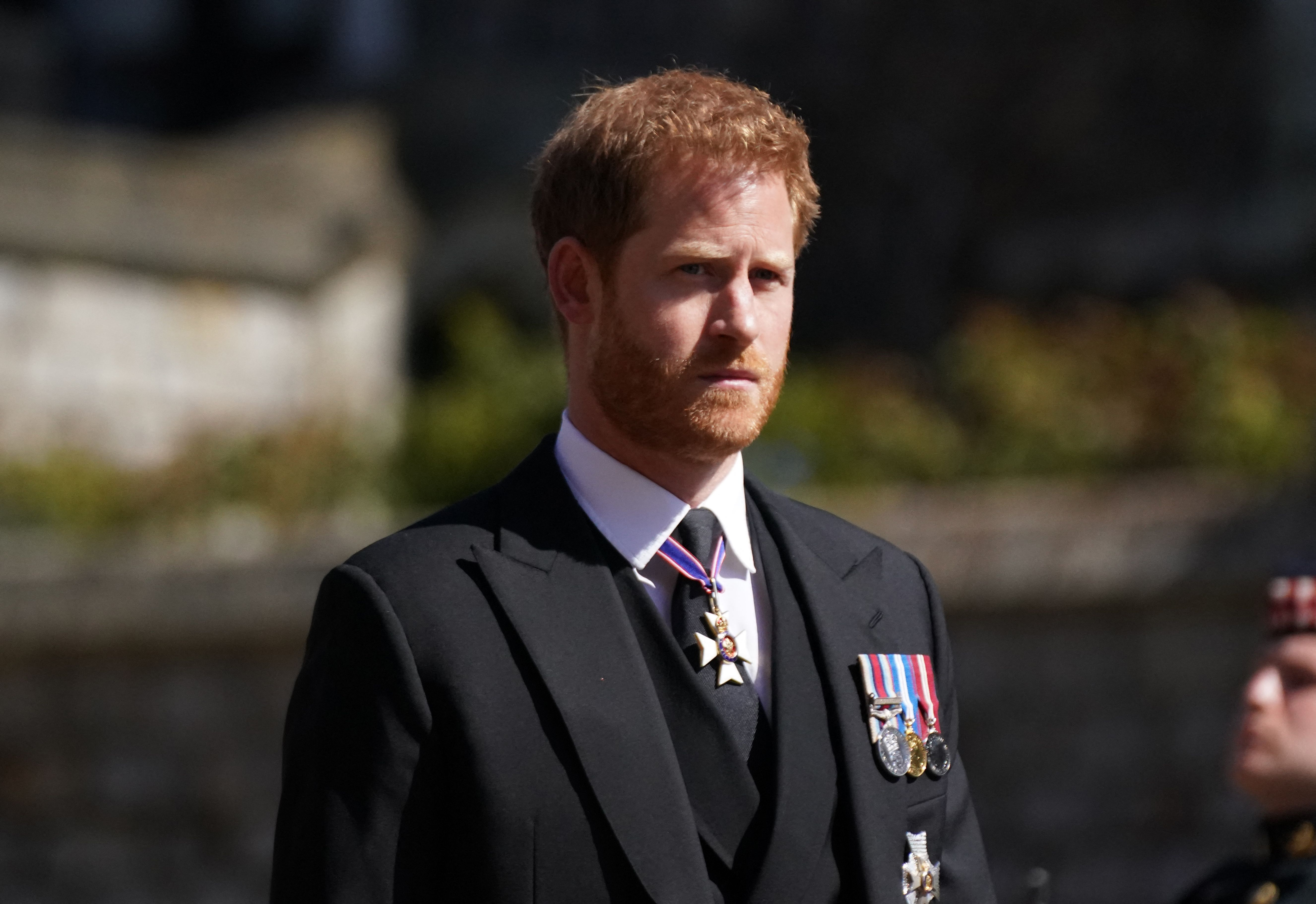 The Duke of Sussex reunites with his family at Prince Philip's funeral