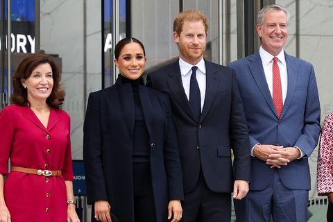 принц гарри и принцесса меган посещают нью-йорк