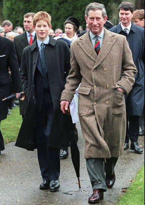 Royals attend Sandringham Church Christmas 1998