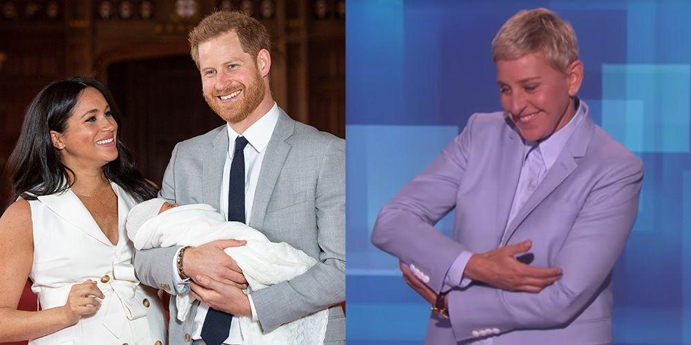Ellen DeGeneres Says Baby Archie Looks Like Prince Harry
