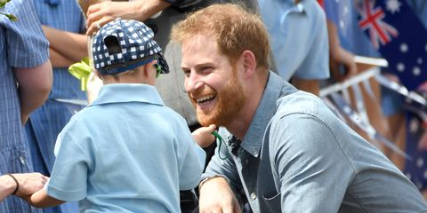 Kids Can't Get Enough of Prince Harry's Beard on the Royal Tour in Australia