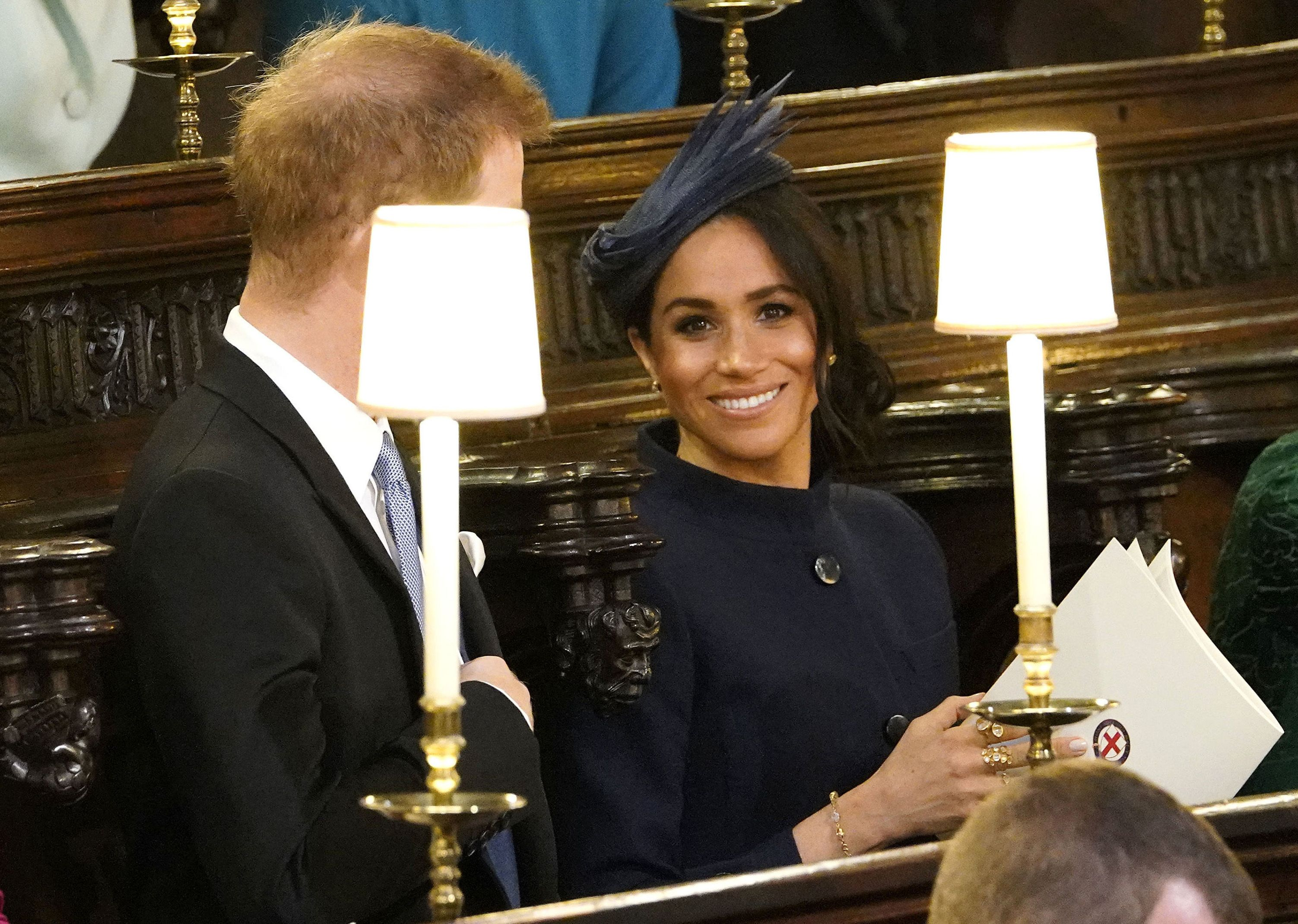 meghan markle at princess eugenie's royal wedding - photos