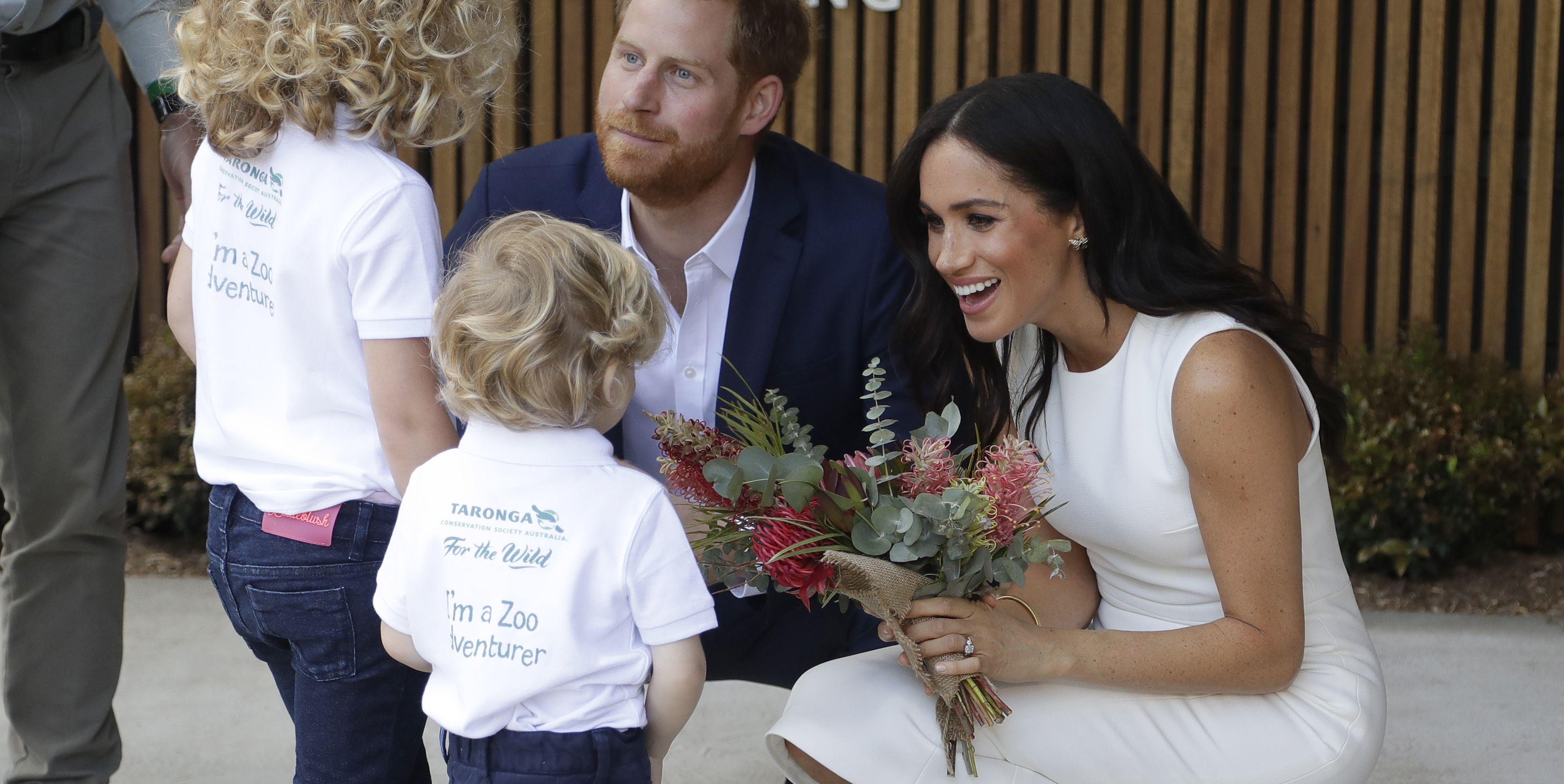 Meghan Markle and Prince Harry Body Language Towards Kids