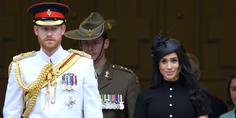 21e24c91ad0 Meghan Markle Wears Emilia Wickstead Dress   Philip Treacy Hat in ...