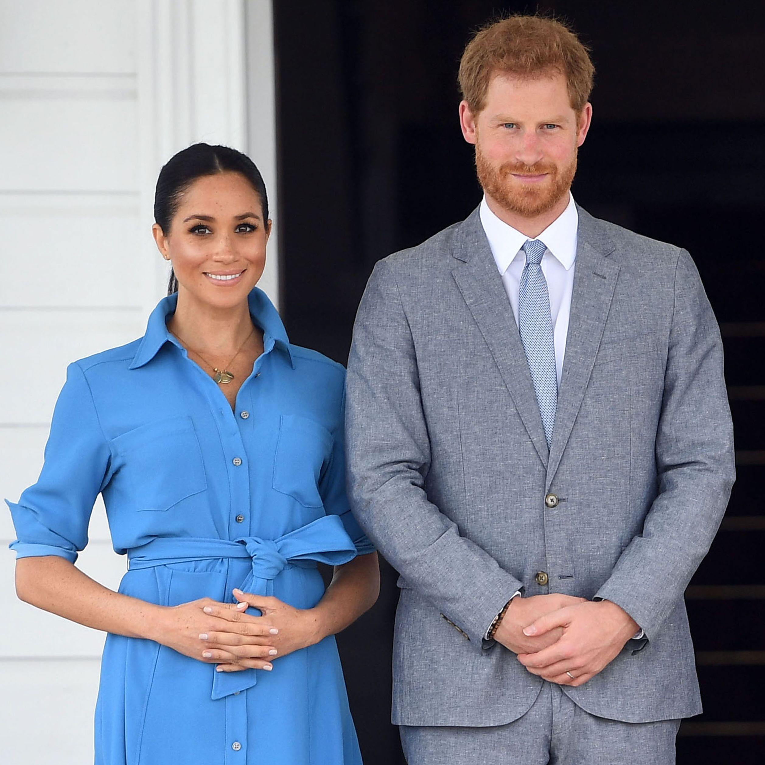 Meghan Markle and Prince Harry's Live Wax Figures Are Seriously Freaky