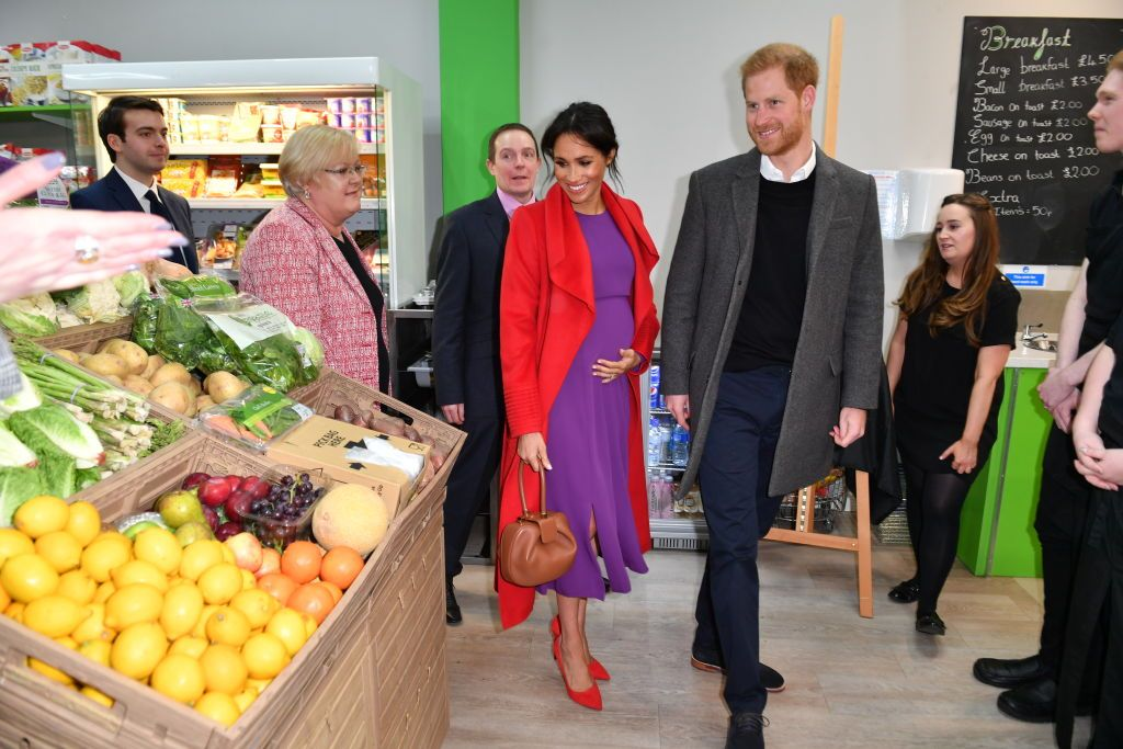 Meghan and Harry visit Number 7, a citizen's supermarket and community café working to eliminate hunger in Birkenhead.