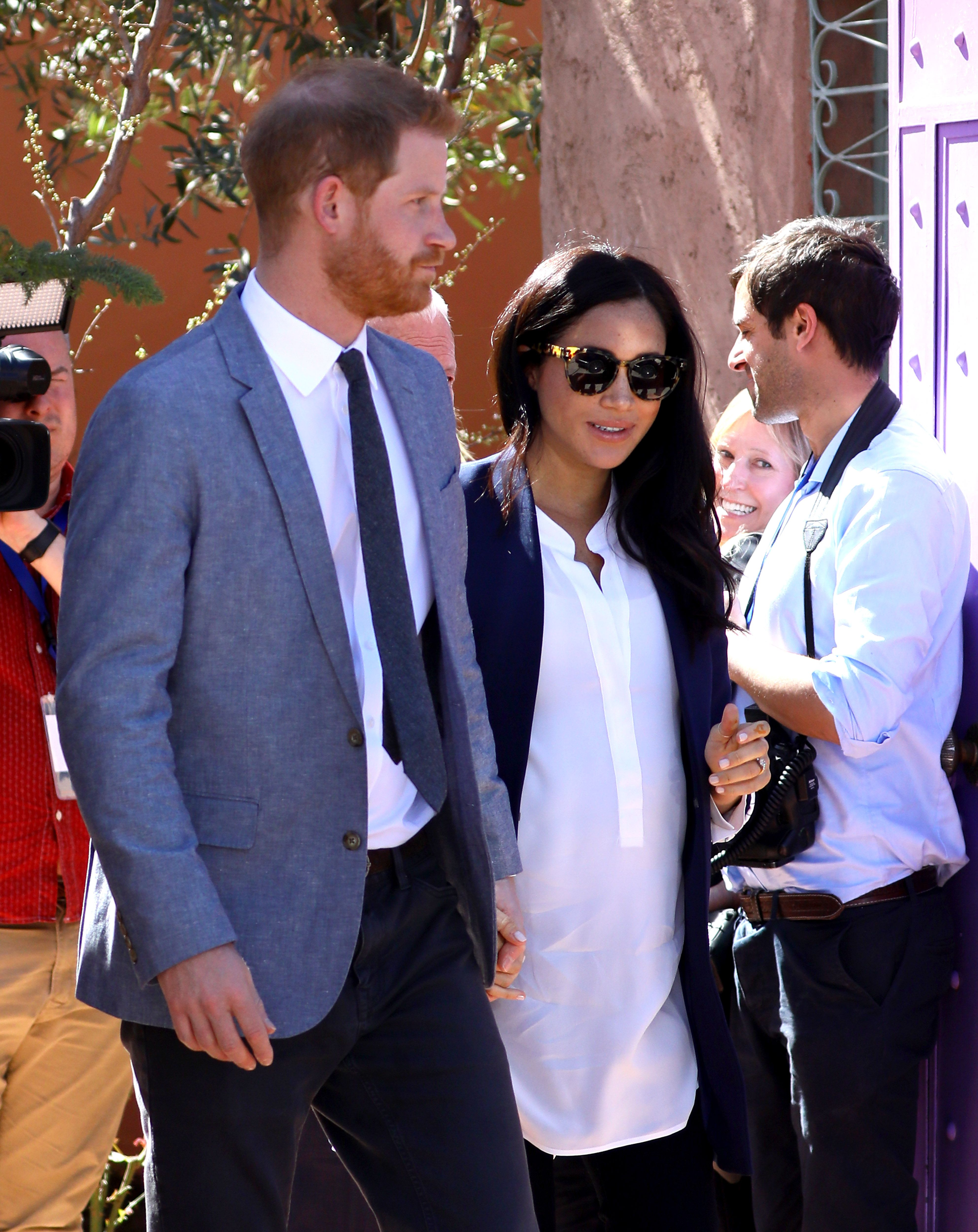 eba665537aa Meghan Markle Just Switched Her Flats for a Stunning Pair of Manolo Blahnik  Pumps in Morocco