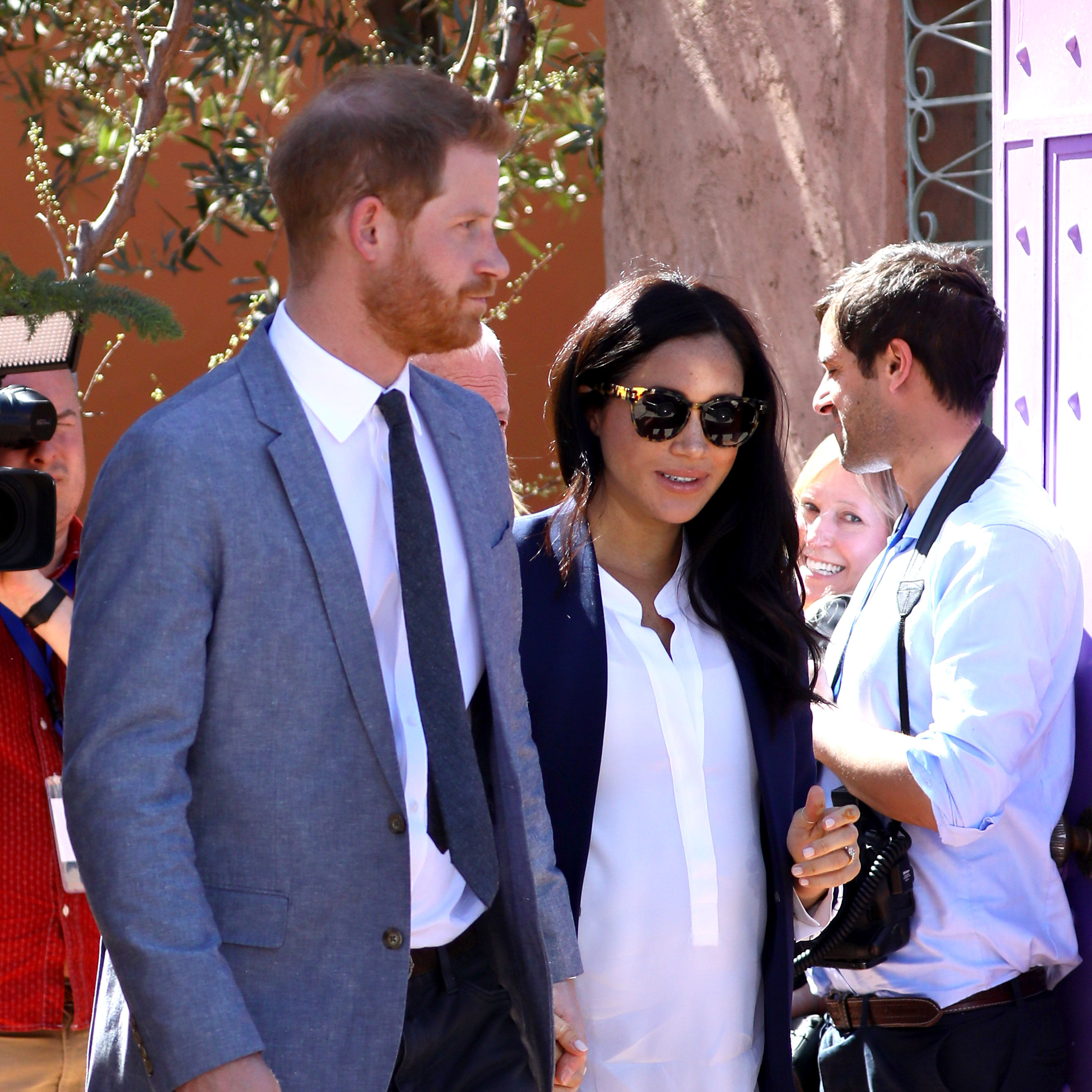Meghan Markle Just Switched Her Flats for a Stunning Pair of Manolo Blahnik Pumps in Morocco