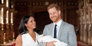 The Duke & Duchess Of Sussex Pose With Their Newborn Son