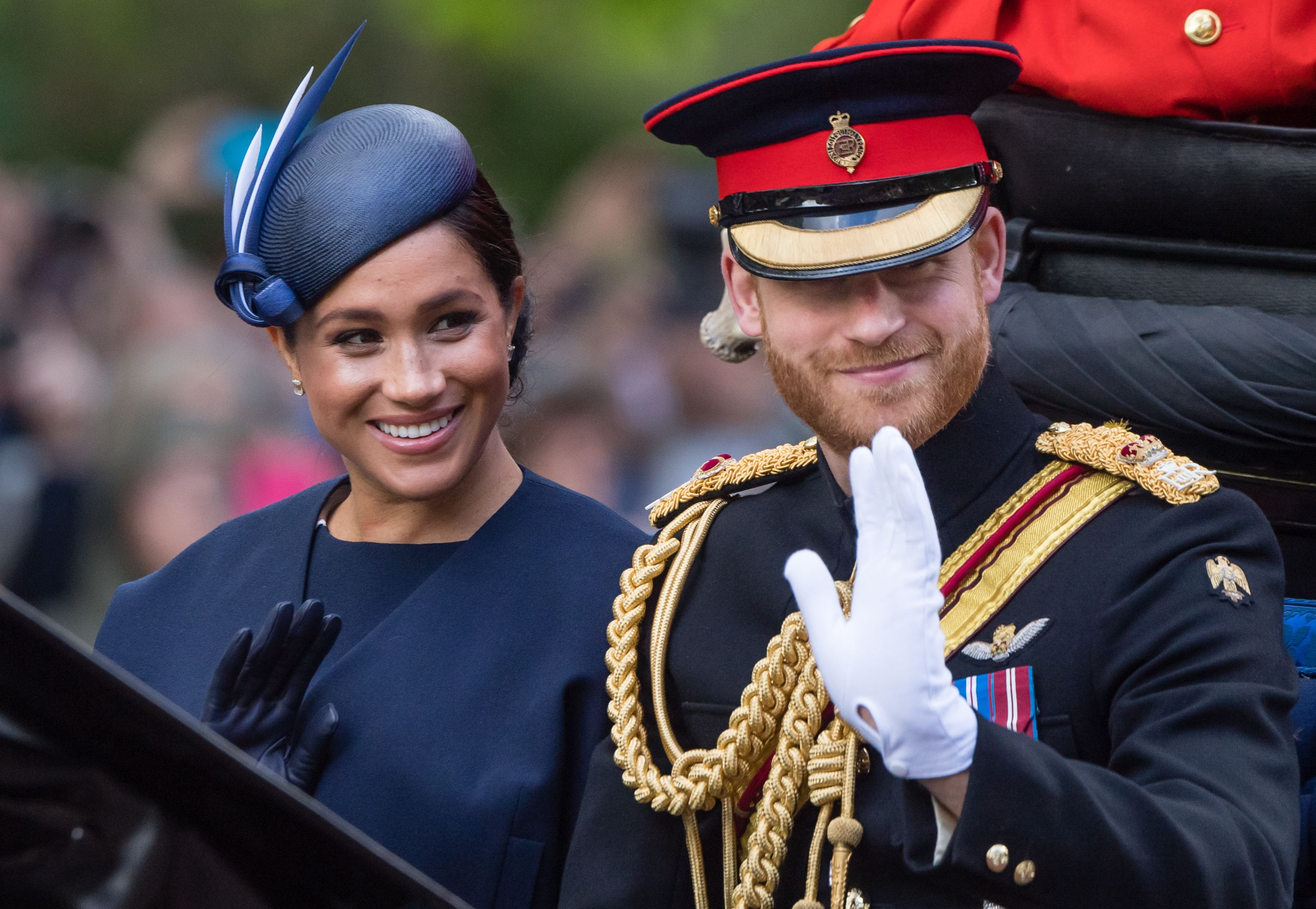Wait, You Totally Missed Meghan Markle and Prince Harry's Son Archie at Trooping the Colour This Weekend