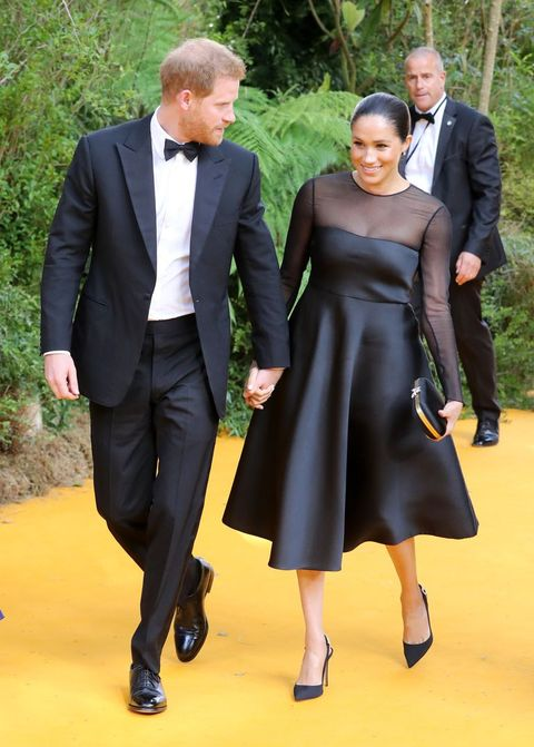 Meghan Markle and Prince Harry Just Arrived at the Lion King Premiere