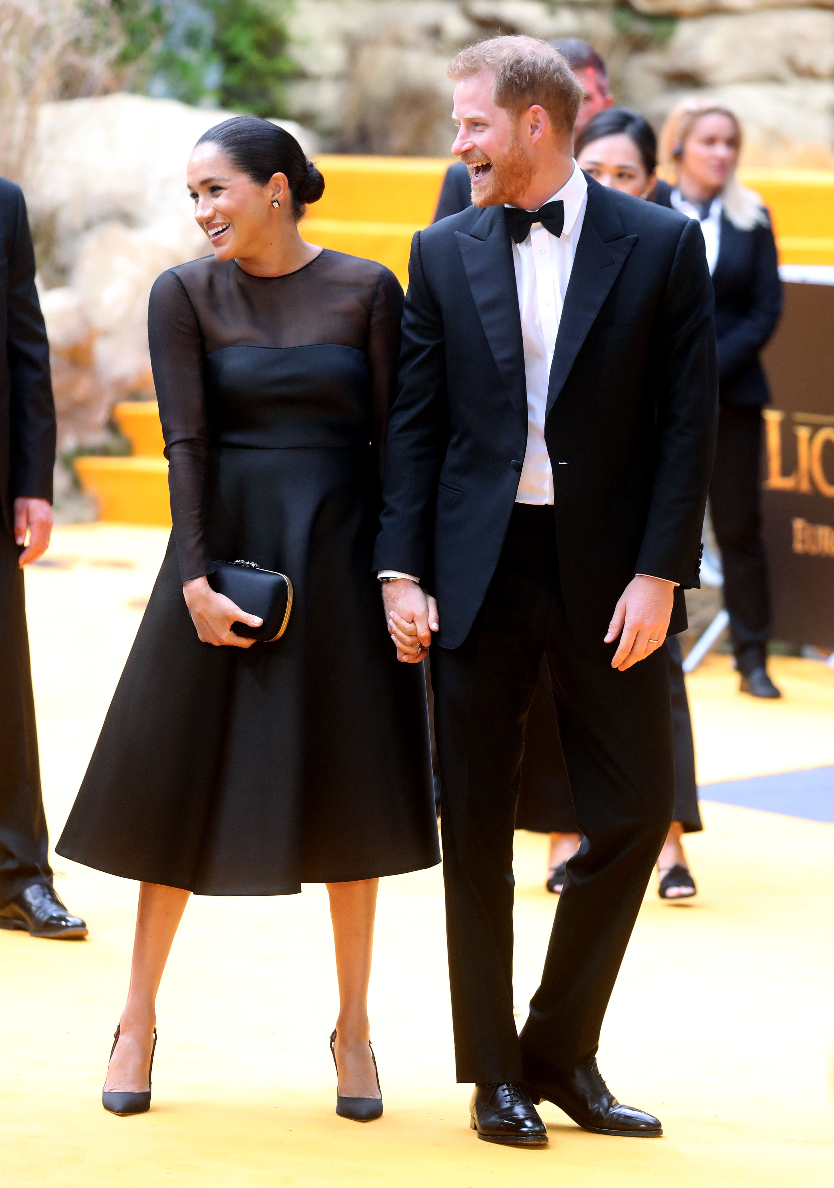 The Duke and Duchess of Sussex attend The Lion King London premiere