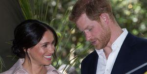 Meghan Markle en Prins Harry in Johannesburg