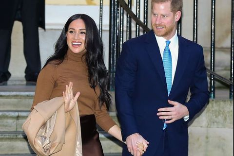 Duke of Sussex and Duchess of Sussex visit Canada House in London