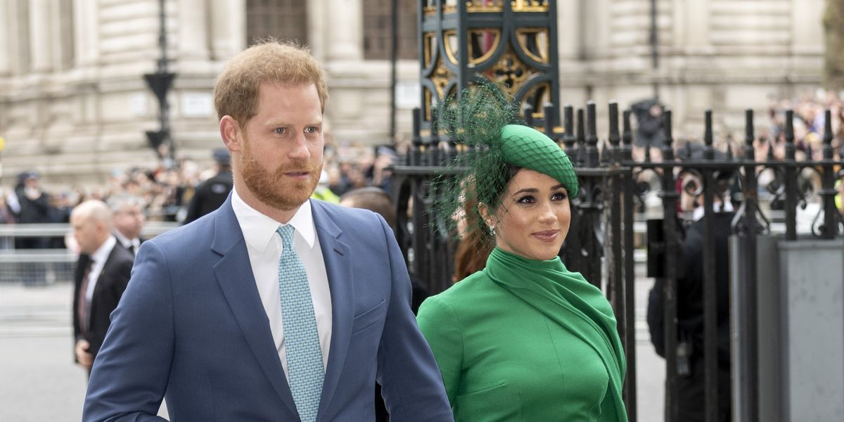 Prince Harry and Meghan match at the Commonwealth Day Service