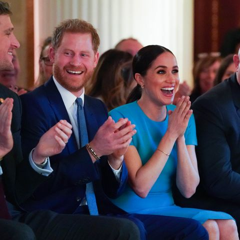 meghan markle prince harry clapping