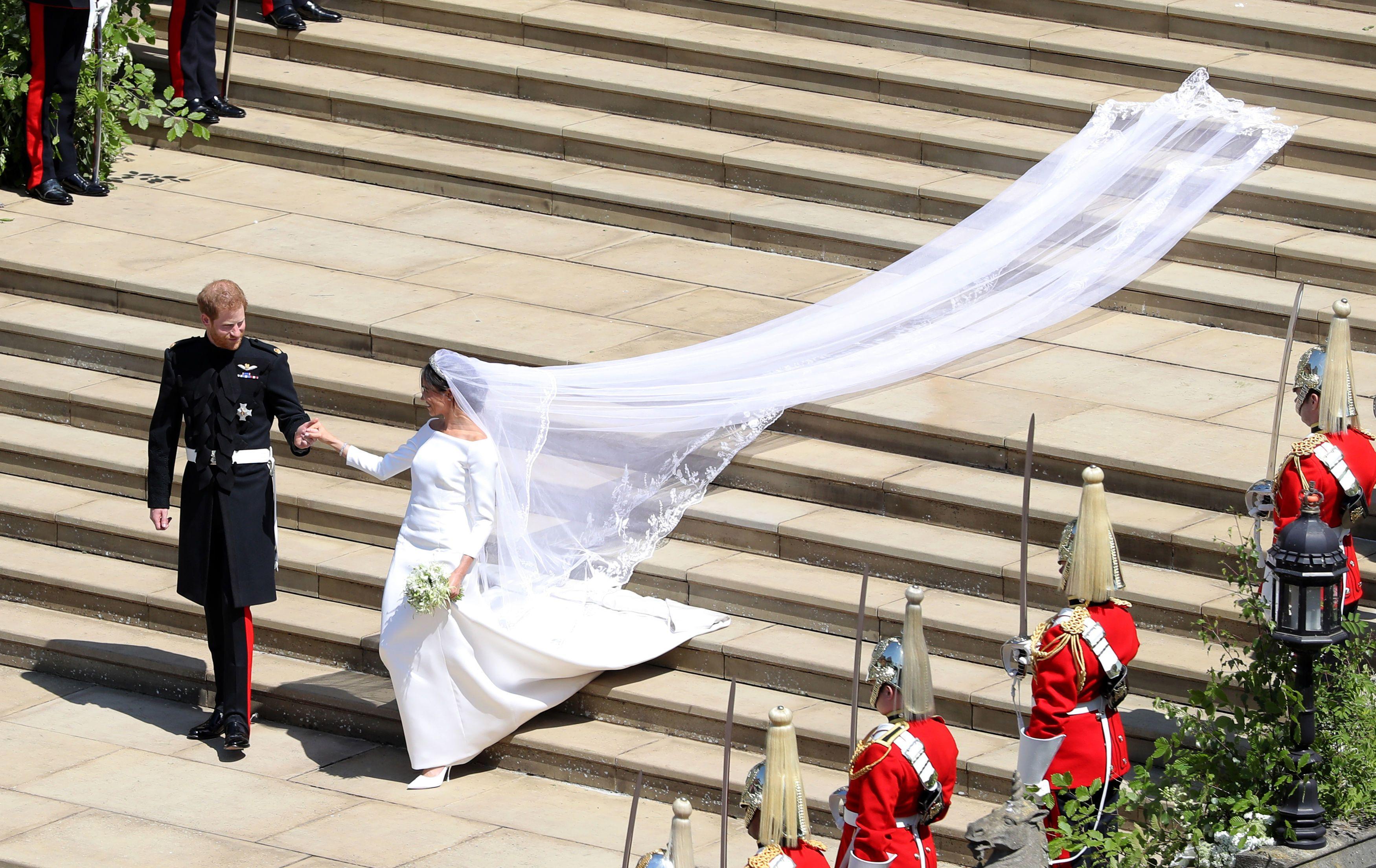 And it was hidden in her veil!