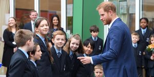The Duke Of Sussex Visits St Vincent's Catholic Primary School In Acton