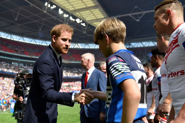 the duke of sussex attends the rugby league challenge cup final
