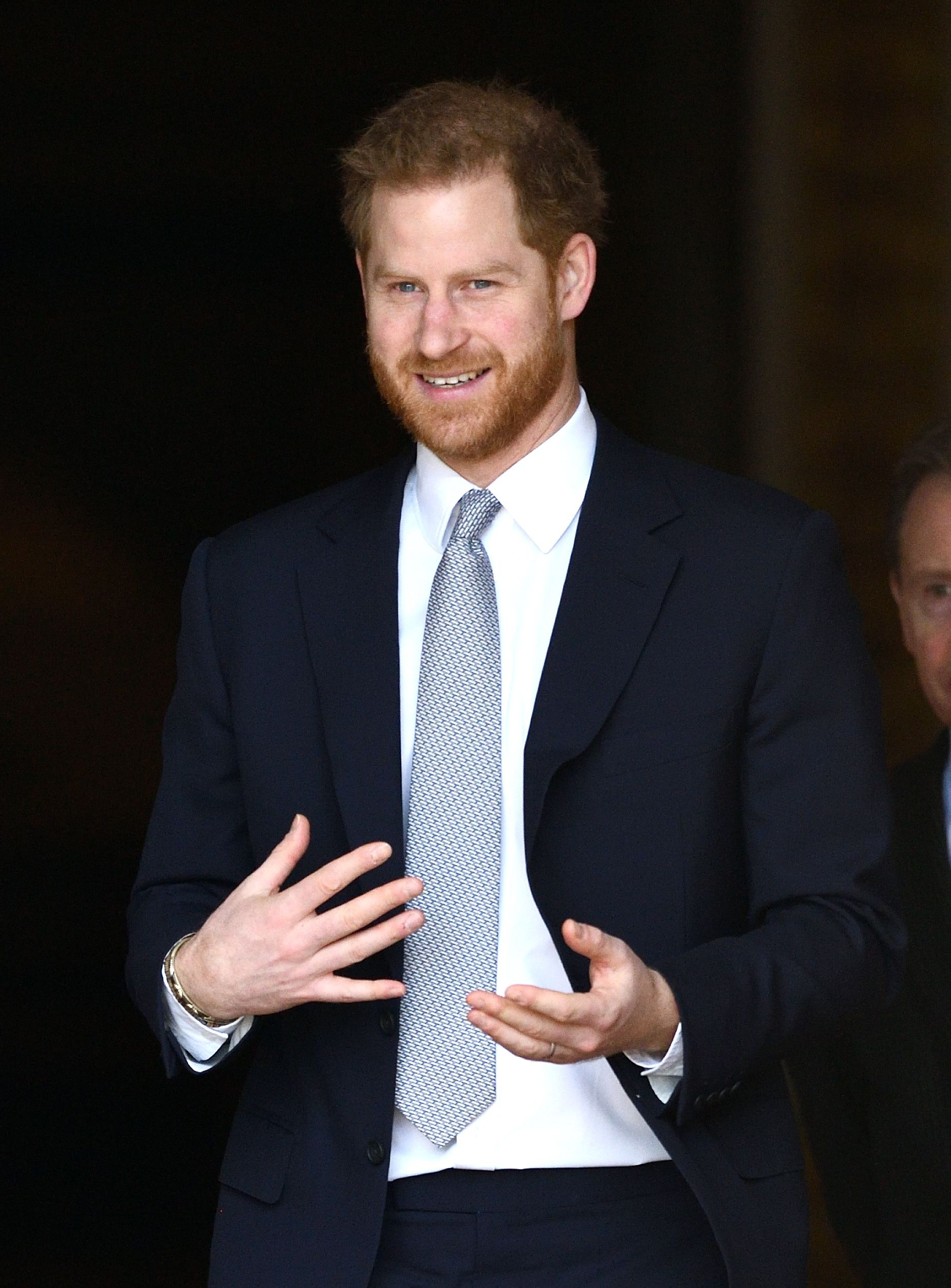 Prince Harry makes first public appearance since announcing plans to 'step back'