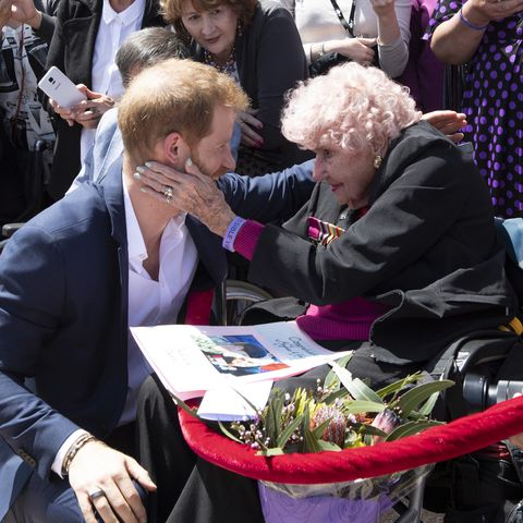 Prince Harry with Daphne Dunne