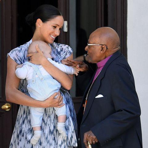 meghan markle prince harry baby archie desmond tutu