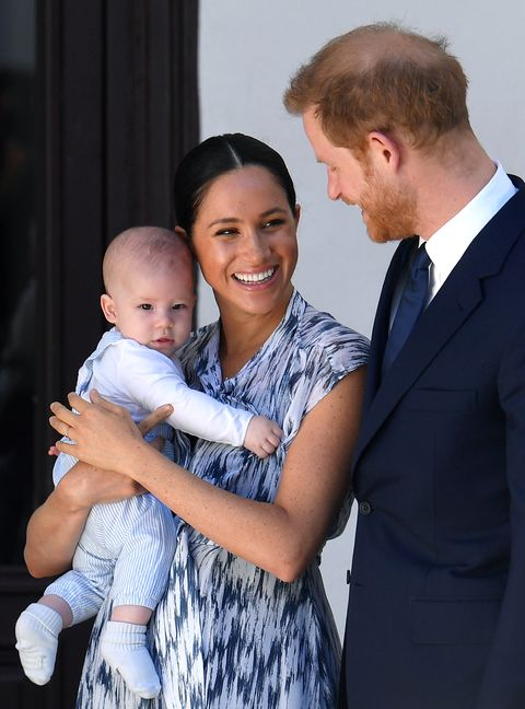 meghan, harry, and archie last october