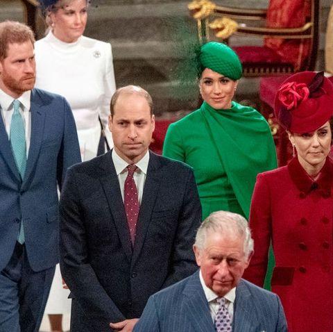 ヘンリー王子 メーガン妃 ウィリアム王子 キャサリン妃 エリザベス女王 ロイヤルファミリー