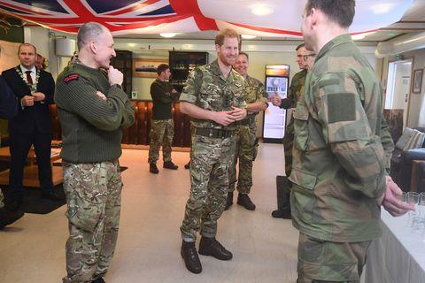 Prince Harry, Duke of Sussex Visits Exercise Clockwork