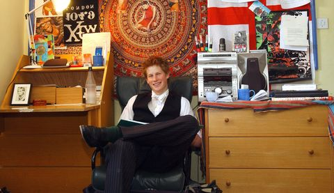 Prince Harry at Eton College in 2003