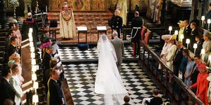 Prince charles walks Meghan Markle down aisle
