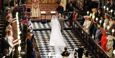 Prince charles walksMeghan Markle down aisle