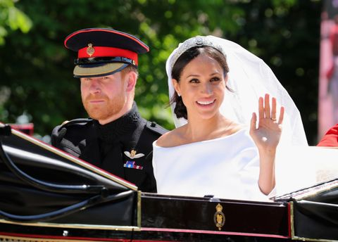 Prince Harry and Meghan Markle at the royal wedding