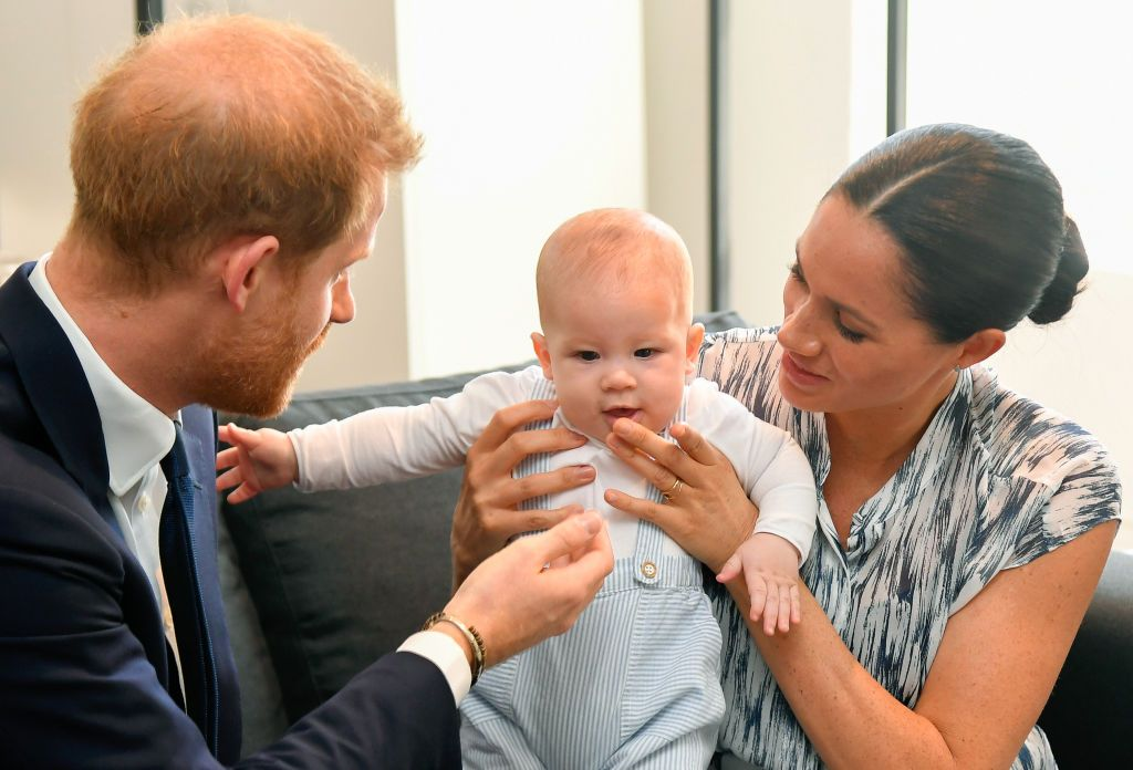 meghan markle and prince harry s son archie is talking and has favourite words meghan markle and prince harry s son