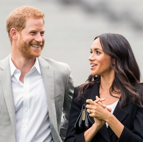 dublin, ireland   july 11  prince harry, duke of sussex and meghan, duchess of sussex visit croke park, home of ireland's largest sporting organisation, the gaelic athletic association on july 11, 2018 in dublin, ireland  photo by samir husseinsamir husseinwireimage
