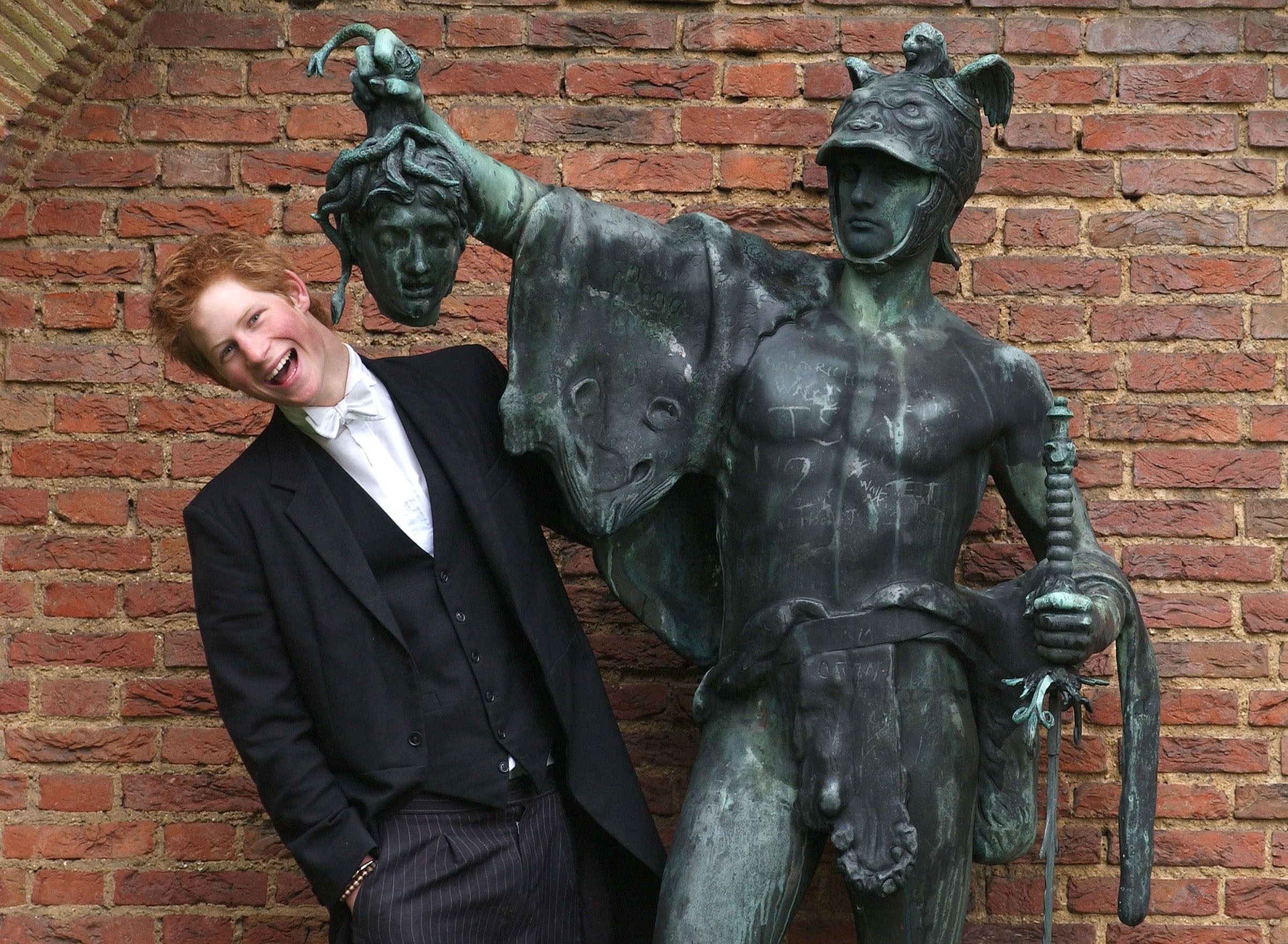 Prince Harry With Statue